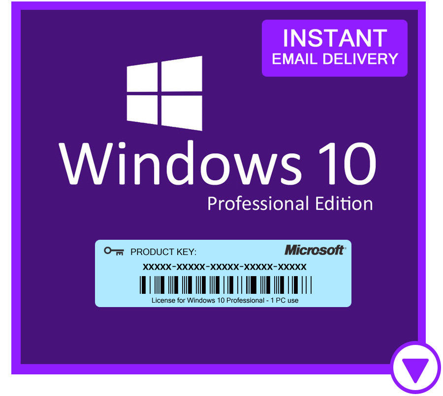 Microsoft Windows 10 Pro Retail License 1pc Ms
